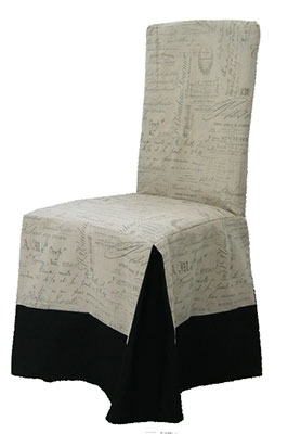 Chair Slipcover Style Classic Fabric Ecrire Script Print