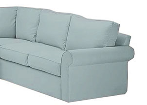 Sectional slipcover - style Suburban  sc 1 st  Needle u0026 Shears : slipcovers for sectional couches - Sectionals, Sofas & Couches