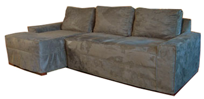 Custom Made Sectional Slipcover With Separate Cushion Covers