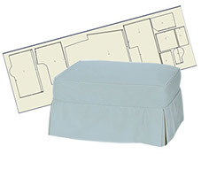 custom made ottoman slipcover patterns in several styles